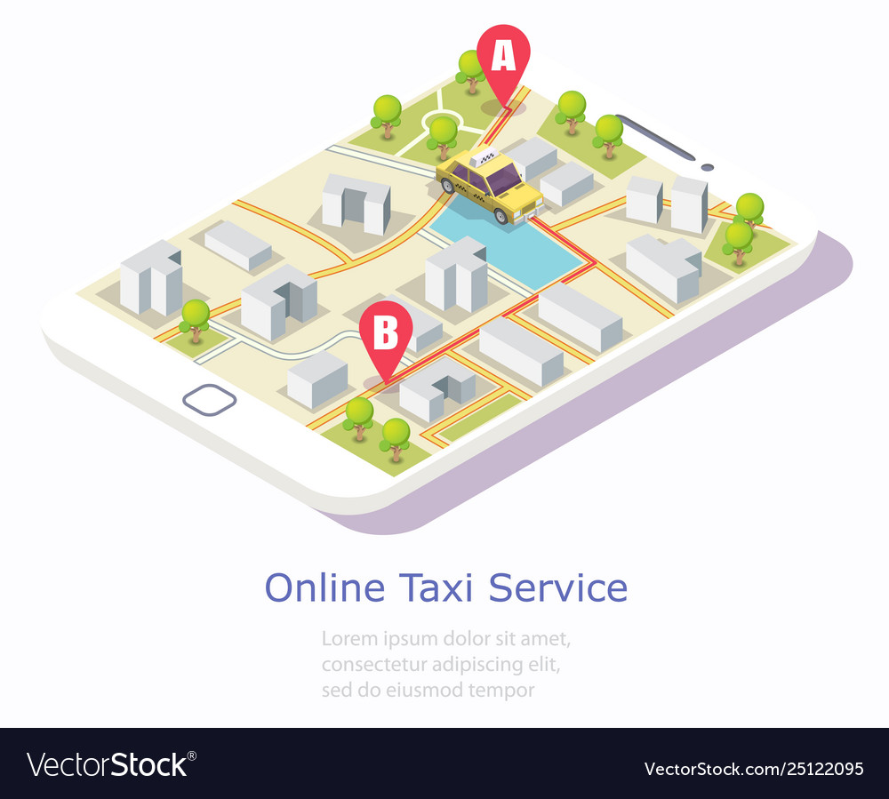 Online taxi service web banner template