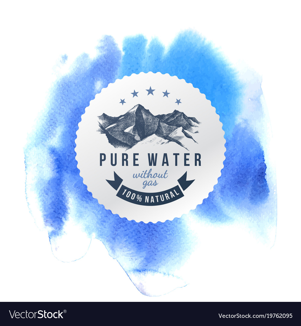 pure water label template royalty free vector image