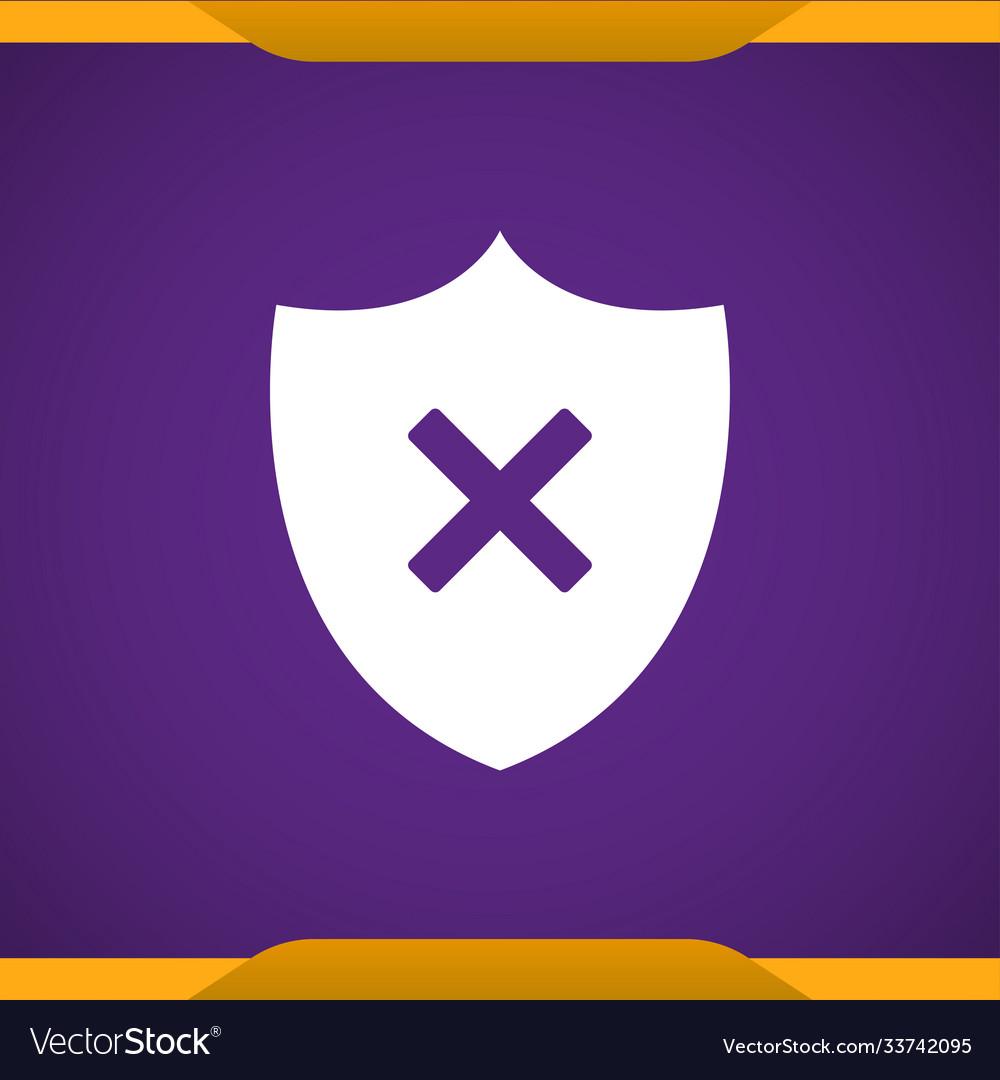 Shield remove icon