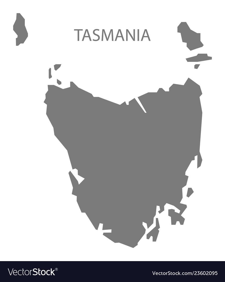 Map Australia Tasmania.Tasmania Australia Map Grey
