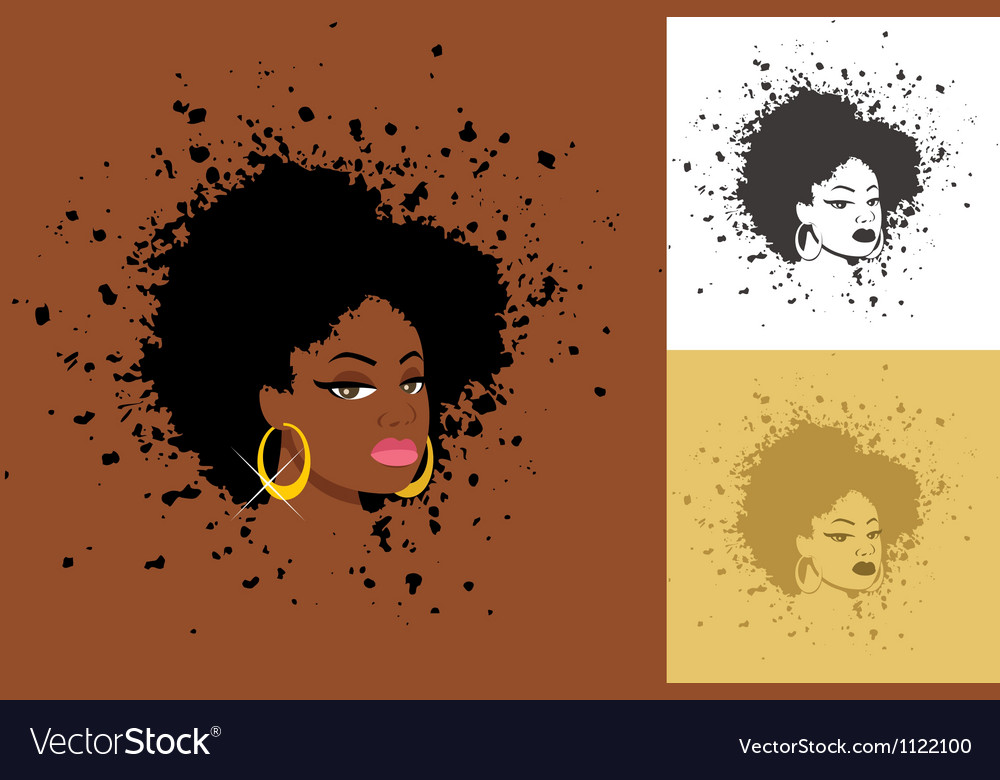 Afro vector image