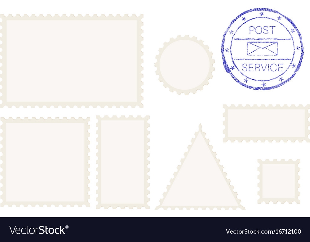 Blank post stamp shape - rectangle triangle