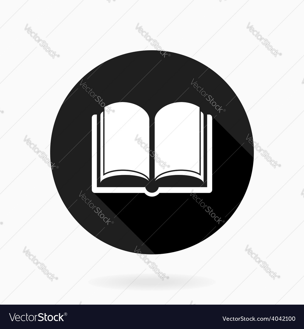 Book Icon With Flat Design