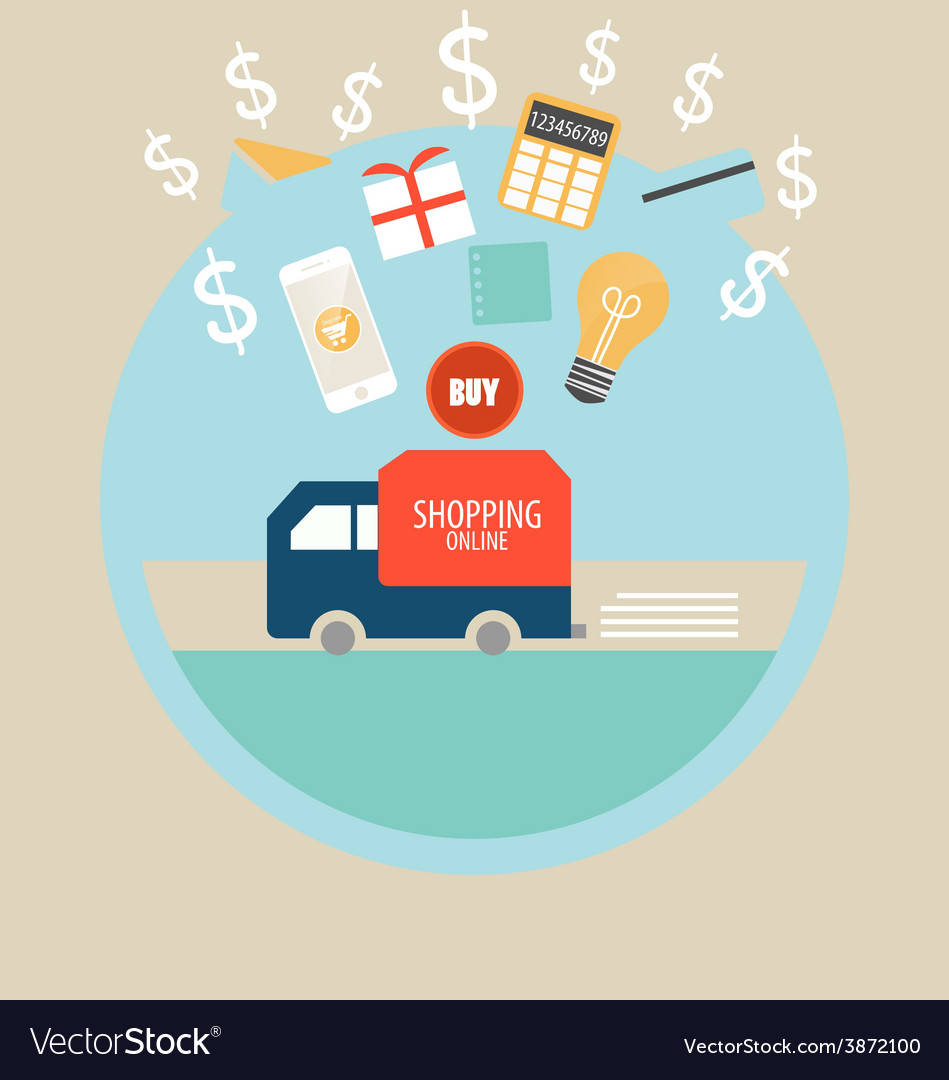 Business concept Online shopping Infographics