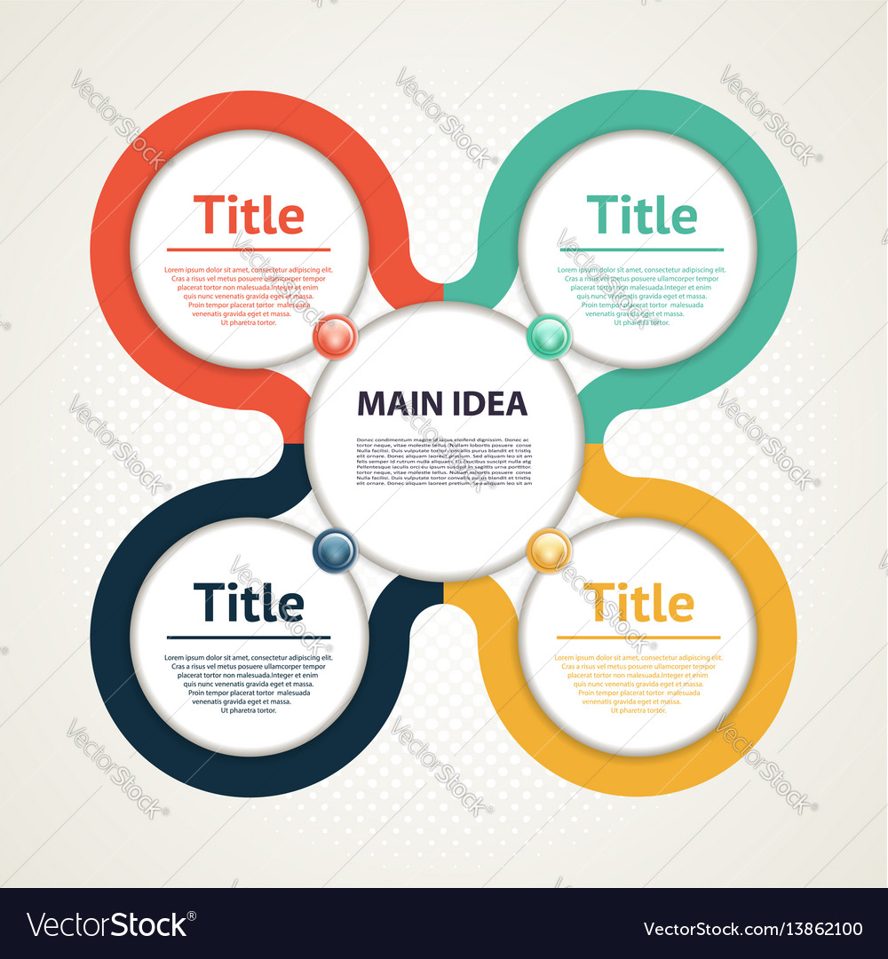 Business concept with four options vector image