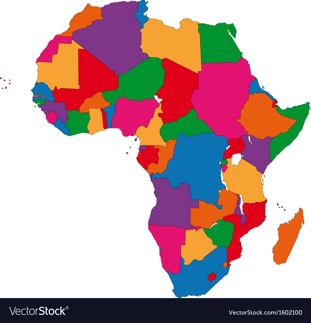 Colorful africa map royalty free vector image vectorstock colorful africa map vector image gumiabroncs Image collections