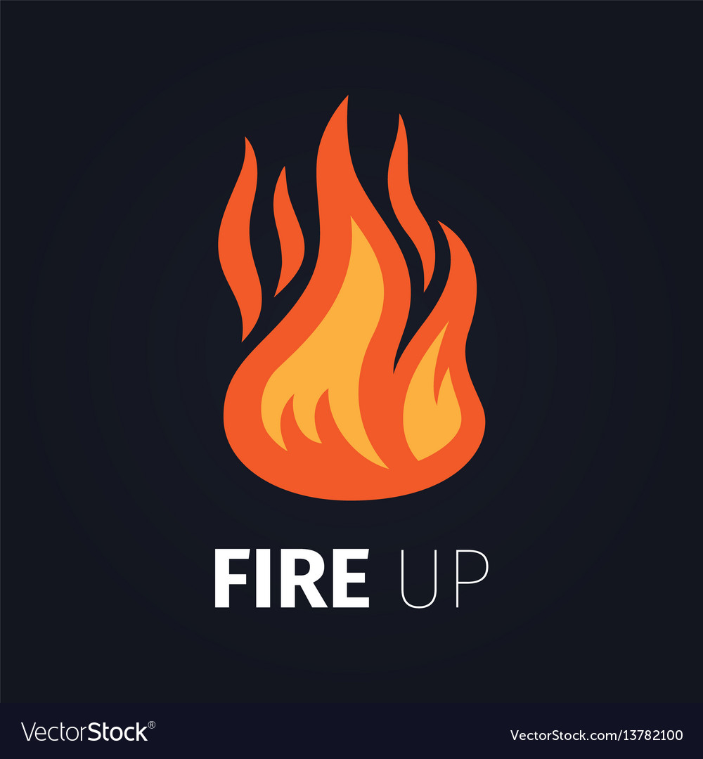 Fire up logo template