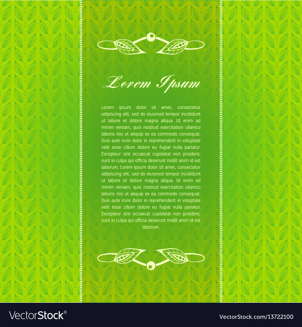 Green calligraphic elements