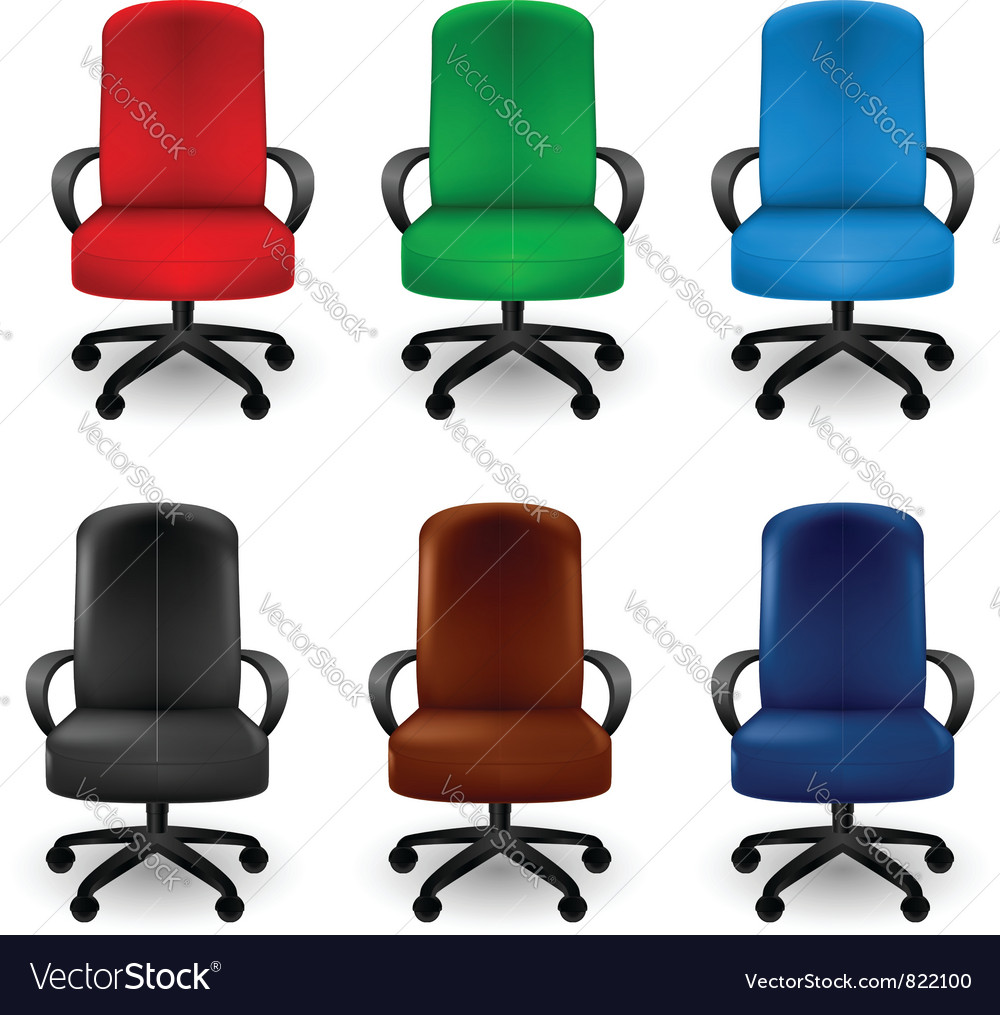 Office Armchairs Royalty Free Vector Image Vectorstock
