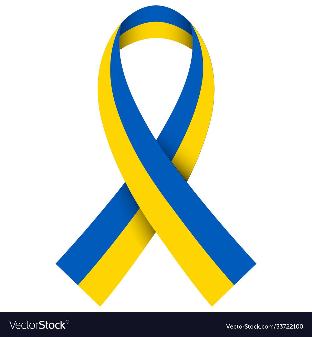 Ribbon flag ukraine ua flag ukraine