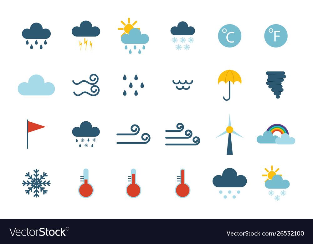Set climate forecast weather icons
