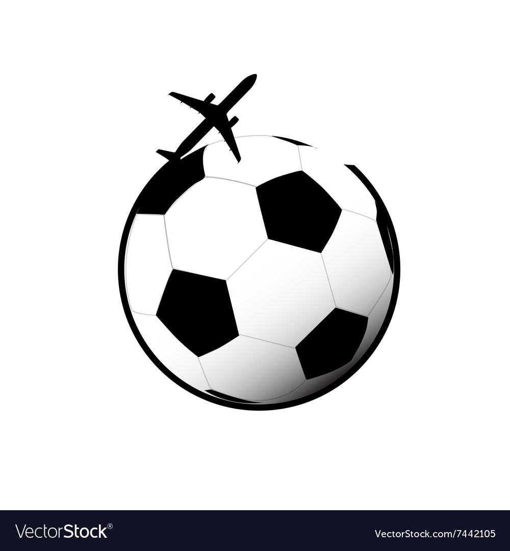 Airplane with football vector image