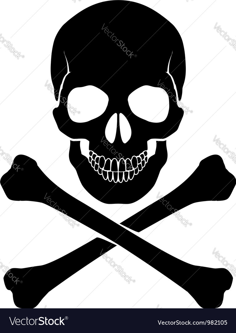 crossbones and skull royalty free vector image rh vectorstock com cute skull and crossbones vector cute skull and crossbones vector