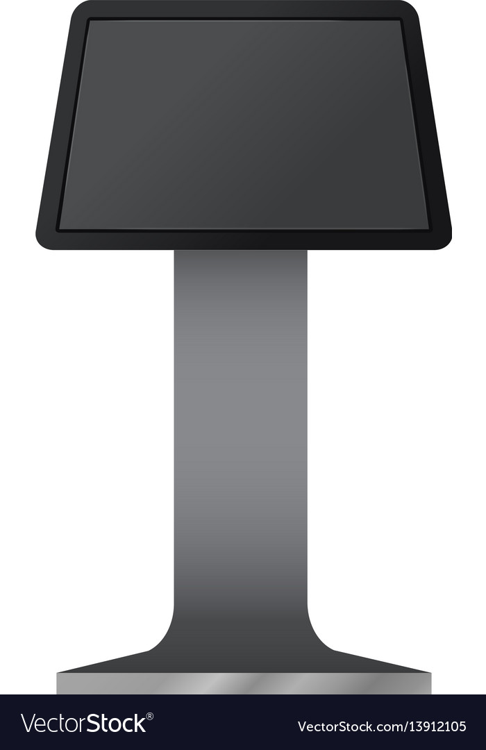Digital touchscreen terminal mockup