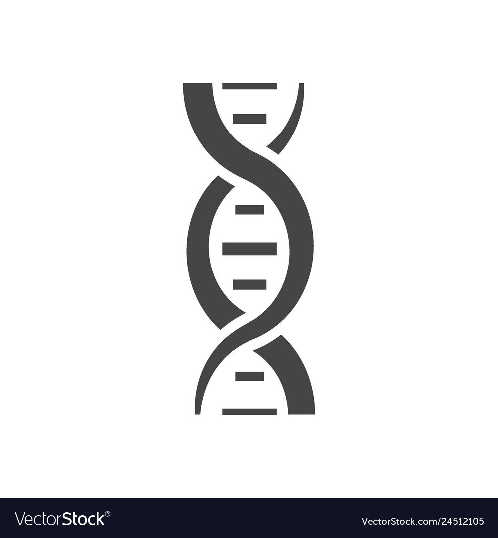 Dna helix silhouette