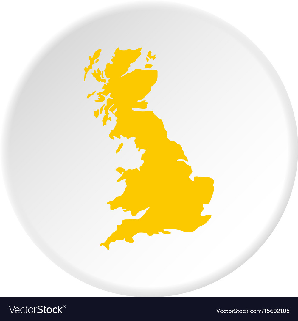 Map of great britain icon circle
