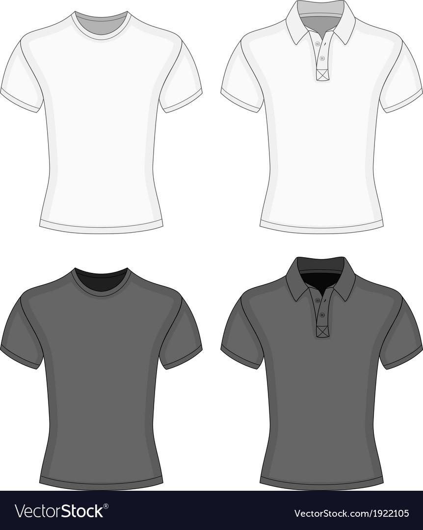 Mens t-shirt and polo-shirt vector image