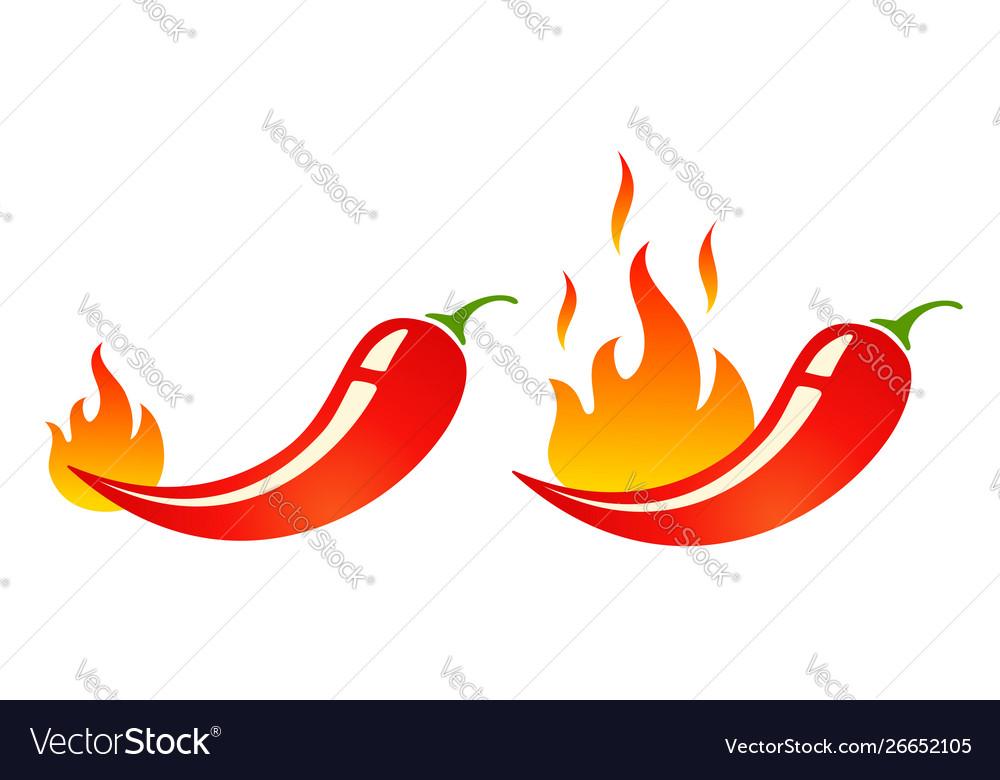 Mild and hot chilli pepper