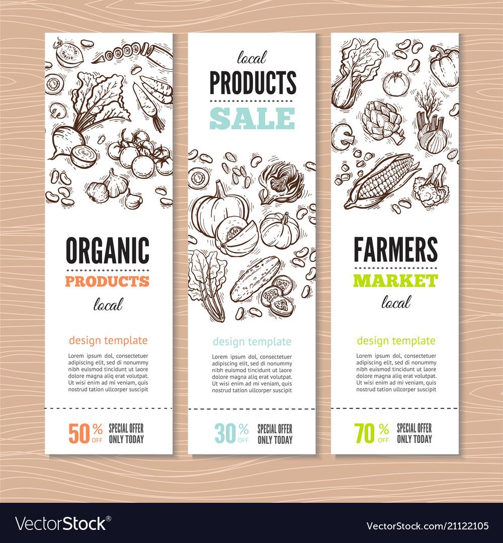 Organic market kit banners