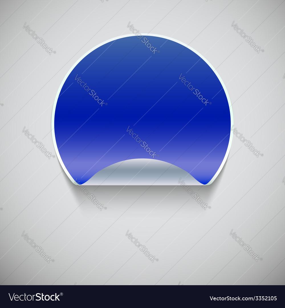 Round blue sticker