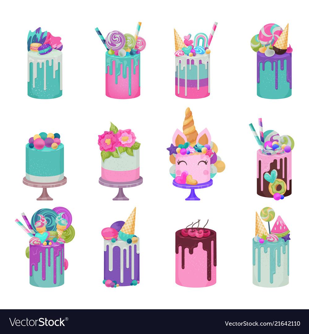 Birthday cake cheesecake cupcake for happy