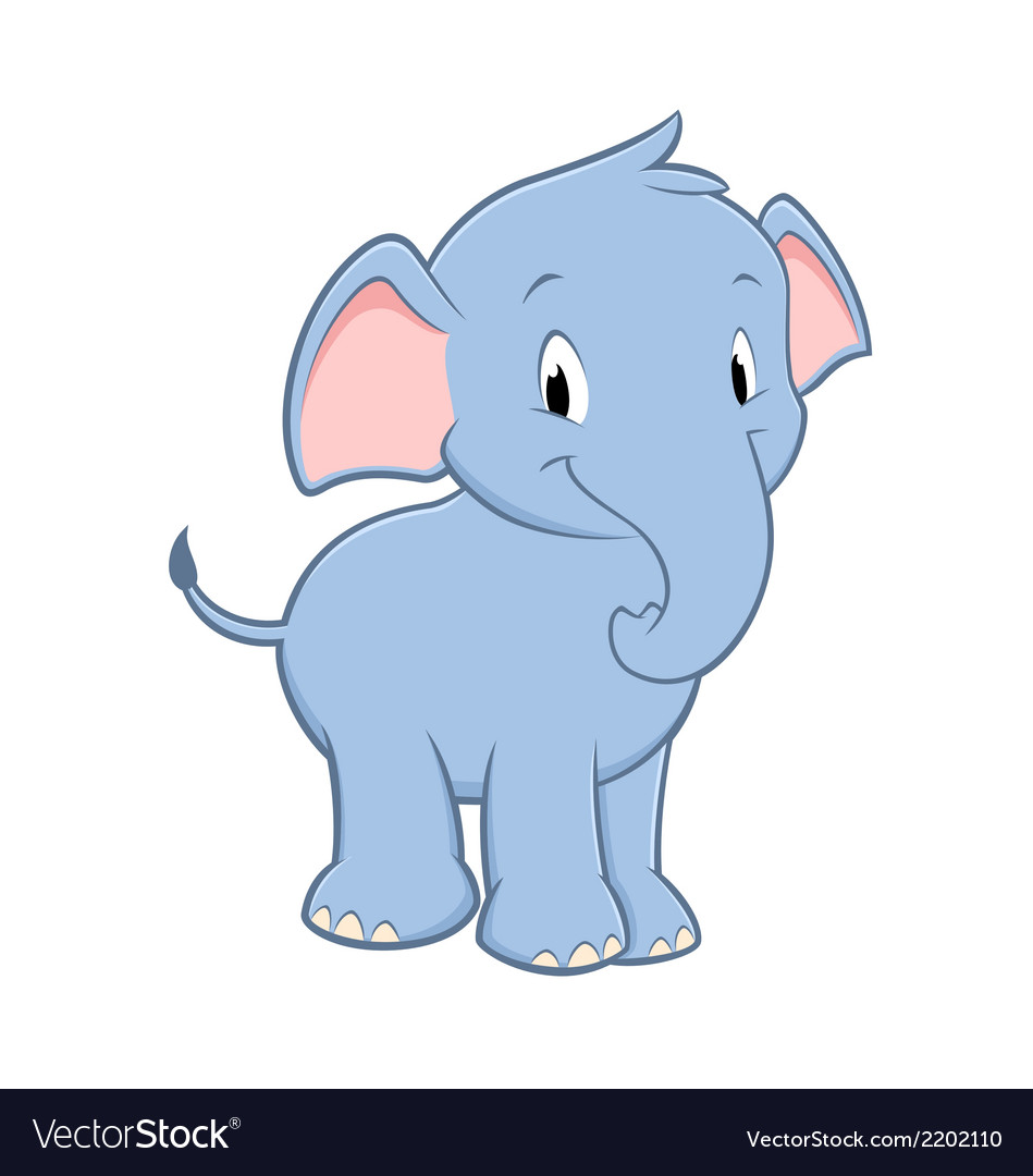 Cartoon Baby Elephant Royalty Free Vector Image