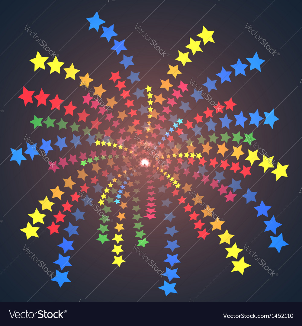 Firework colorful one stars vector image