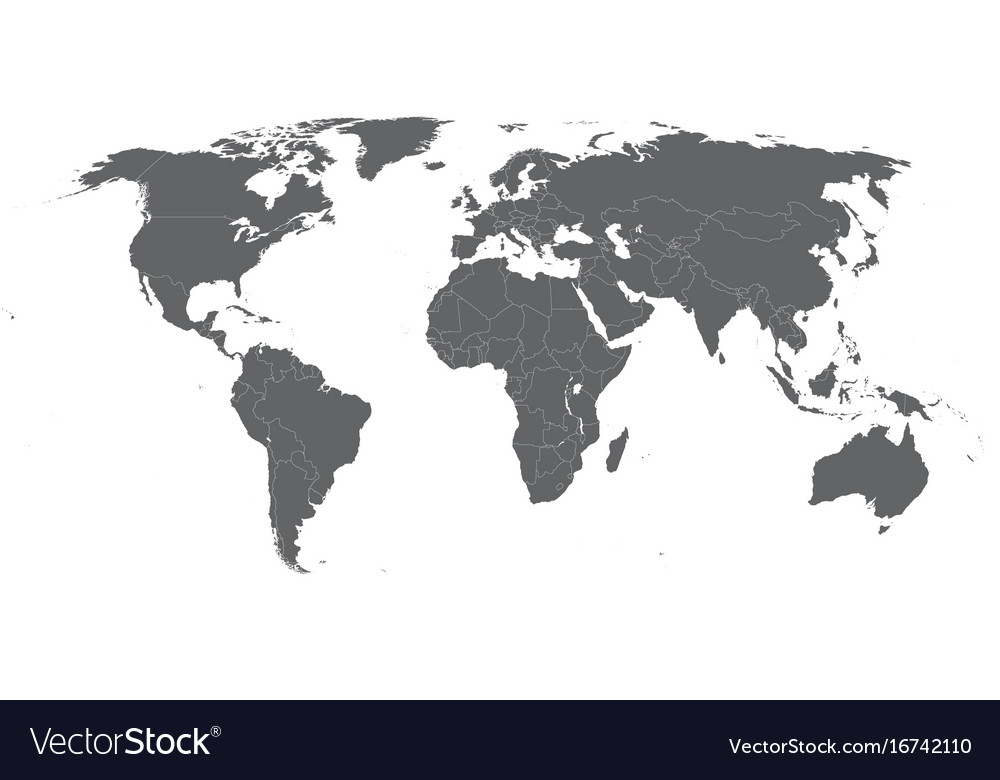 Map of the world - robinson projection