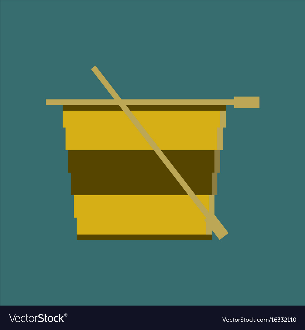 Pixel icon in flat style tea cup Royalty Free Vector Image