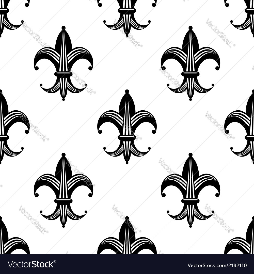 seamless stylized fleur de lys pattern royalty free vector