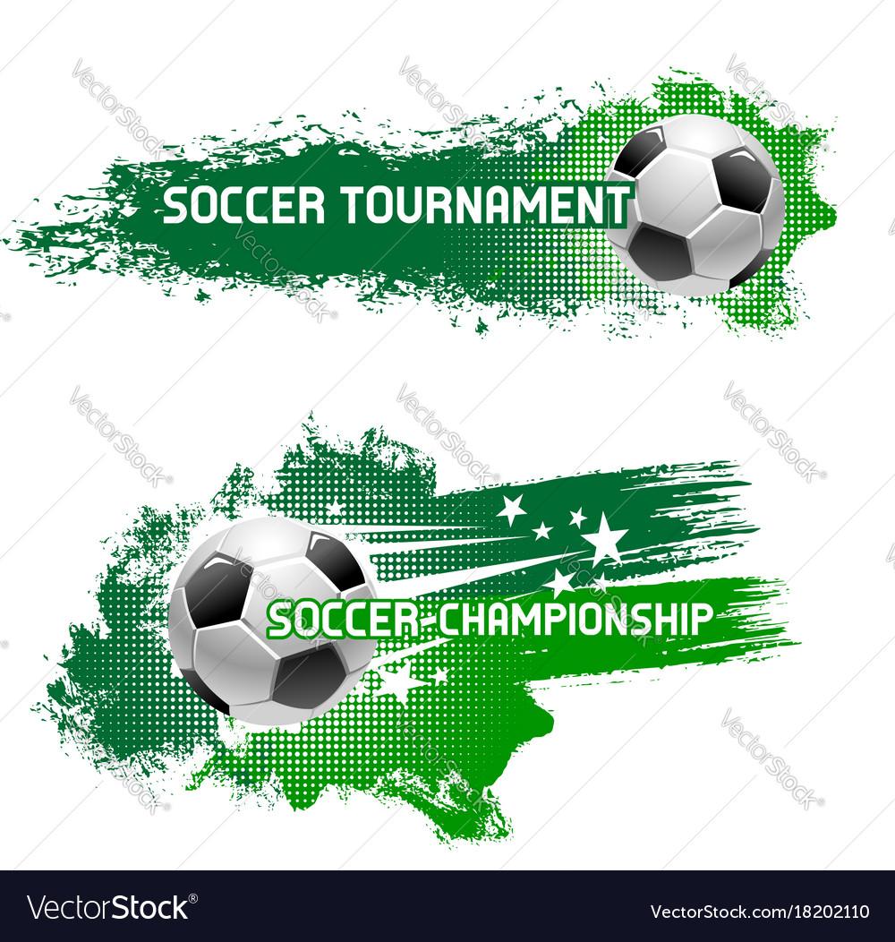 Soccer tournament of flying football ball