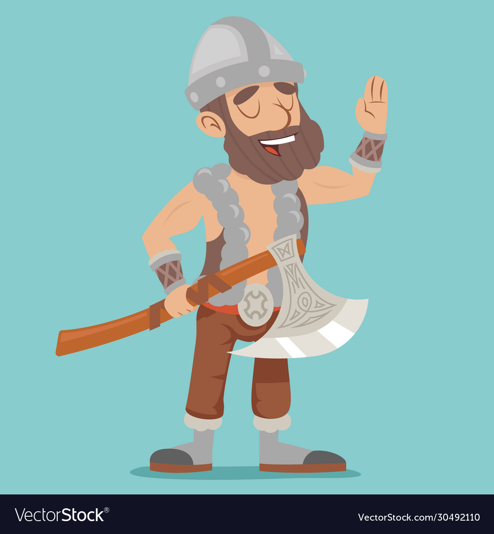 Viking northerner with axe fantasy action rpg game