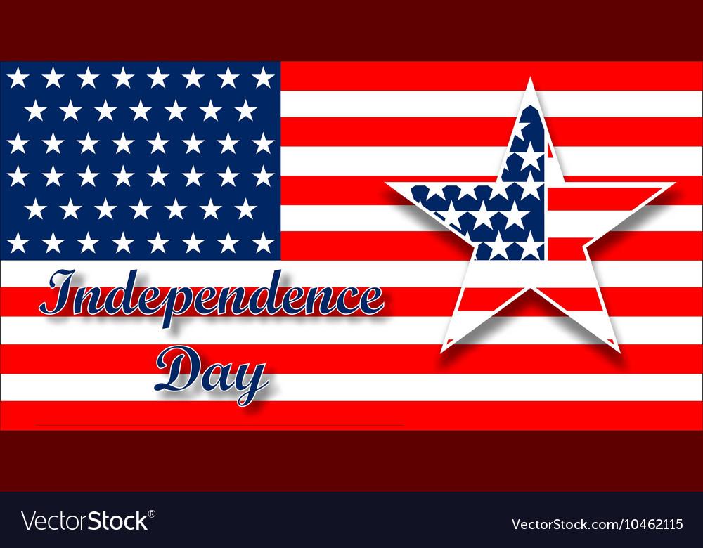 American flag design for celebration an vector image