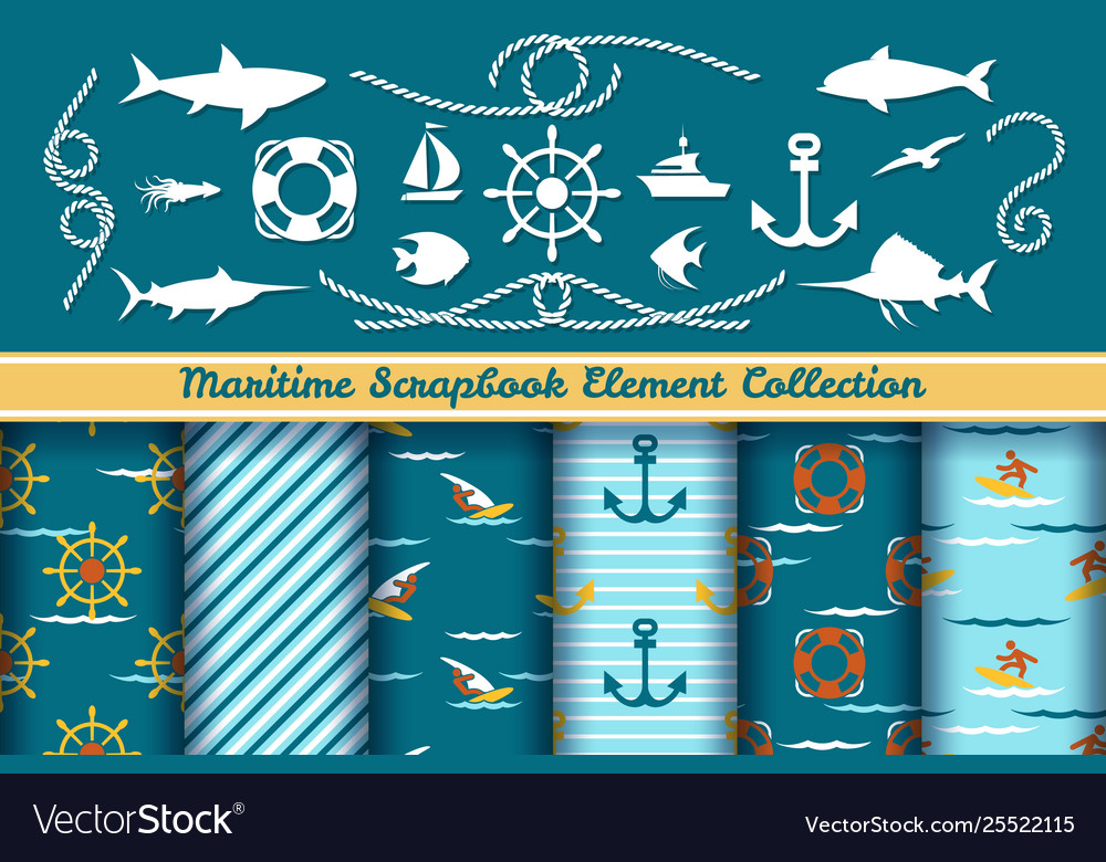 Boys nautical scrapbook elements