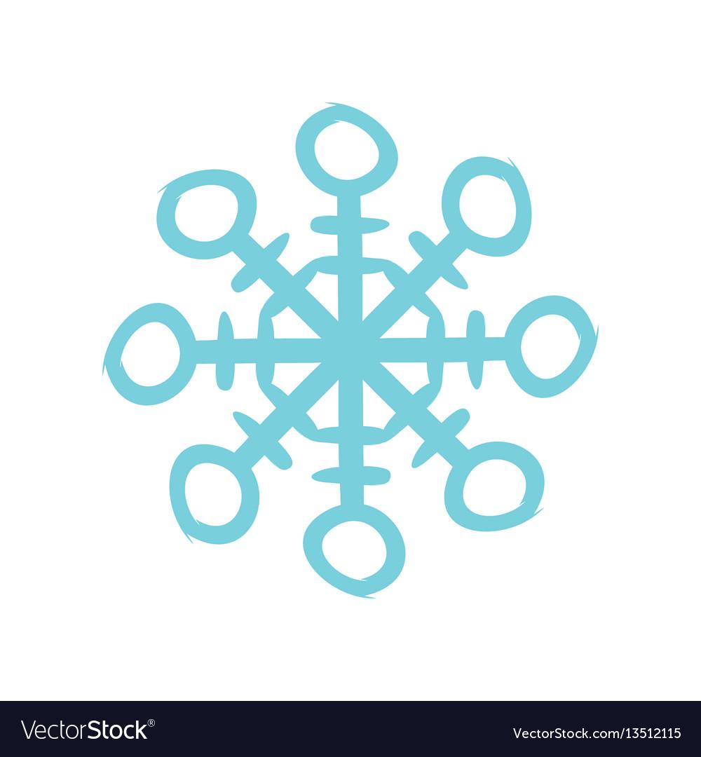 Christmas snowflake icon flat