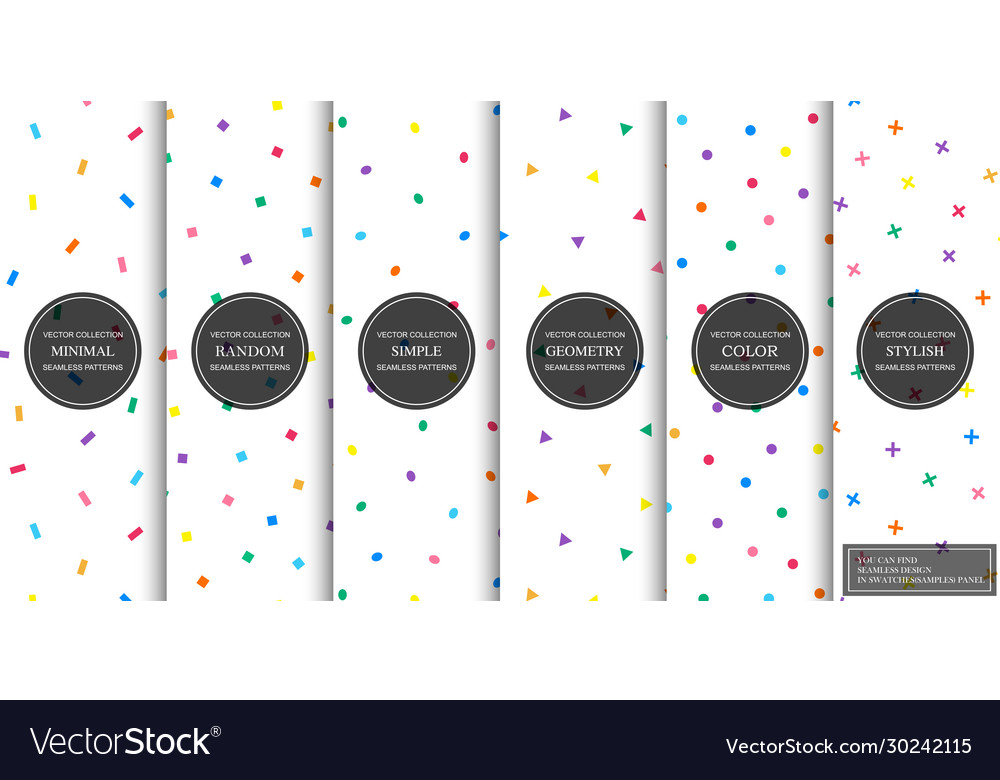 Collection simple seamless celebration