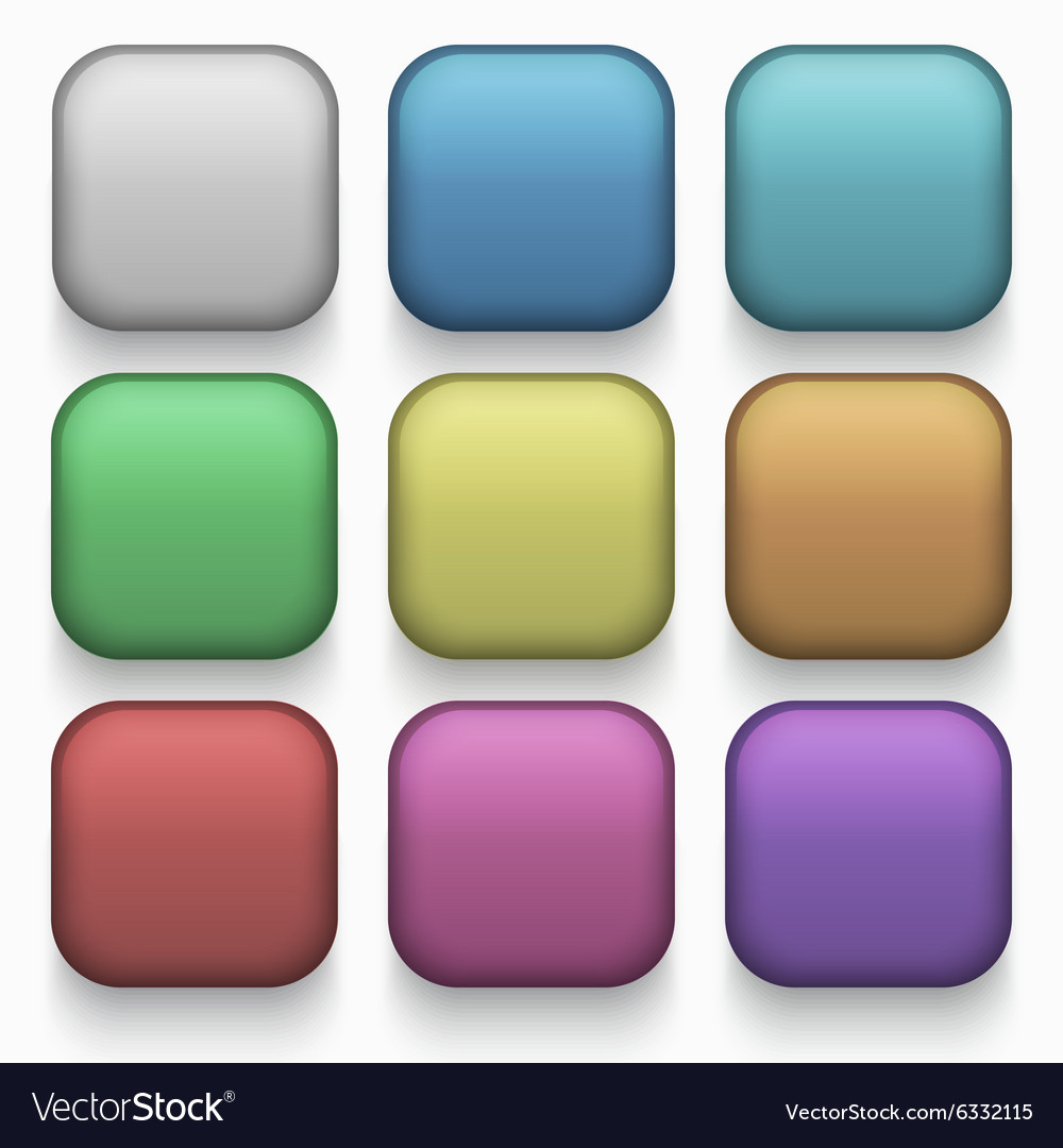 Modern colorful web buttons set
