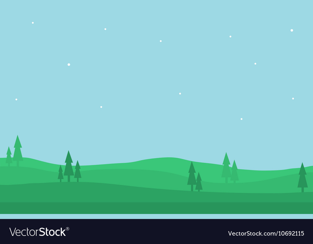 Nature landscape of silhouette for game backgro
