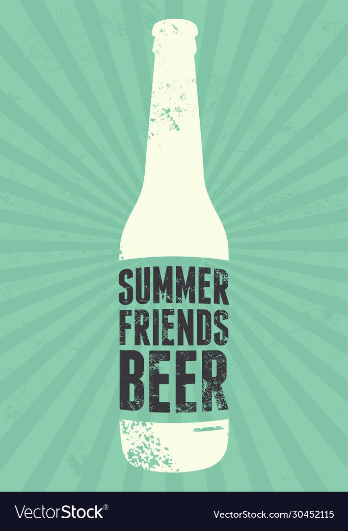 Summer beer typographic vintage grunge poster