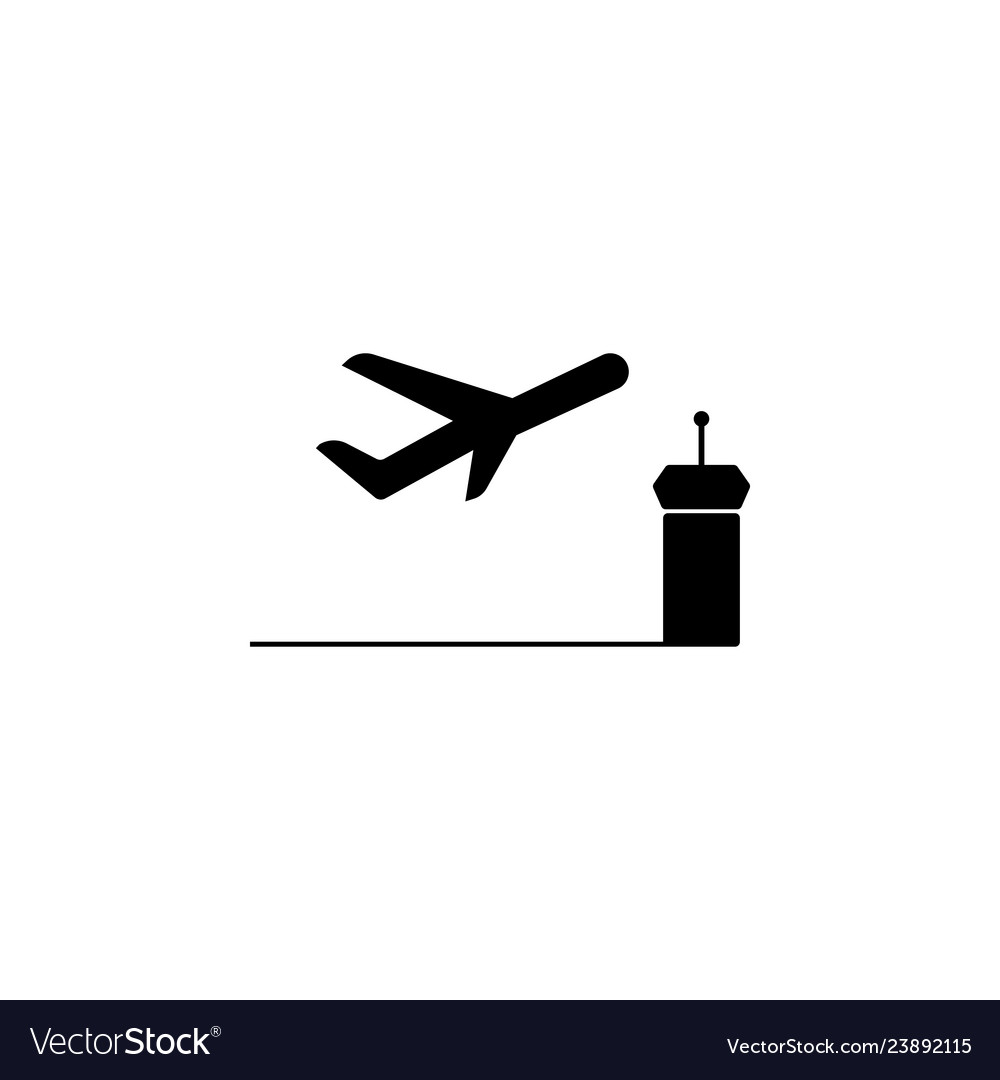 Takeoff aircraft icon element of travel icon for