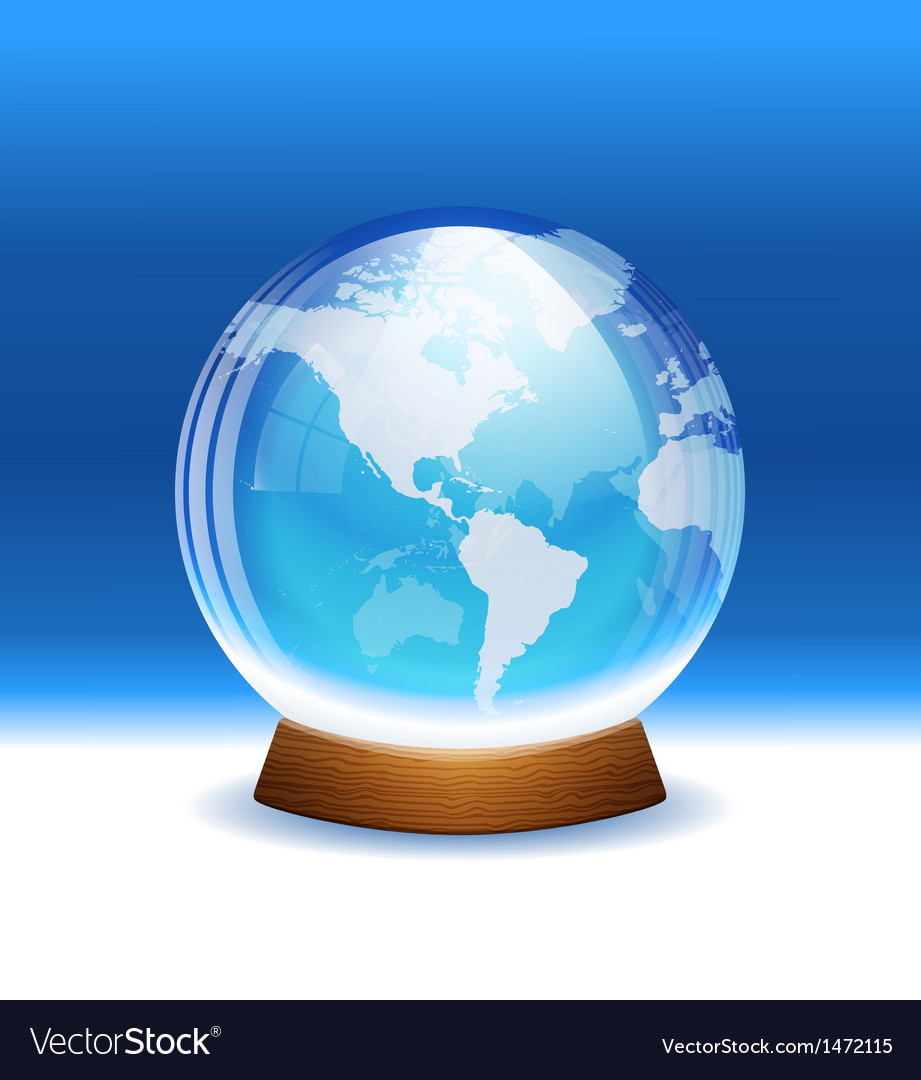 Transparent snow globe with map royalty free vector image transparent snow globe with map vector image gumiabroncs Choice Image