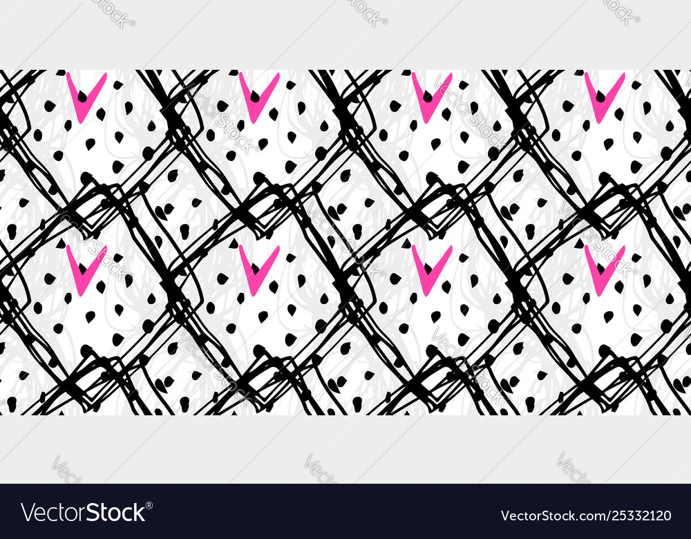 Abstract hand drawn seamless grunge pattern