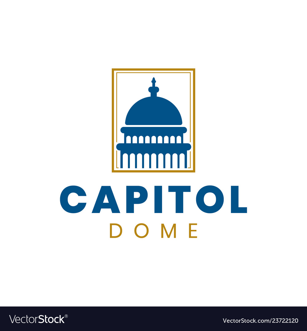 Capitol dome logo design inspiration in blue and