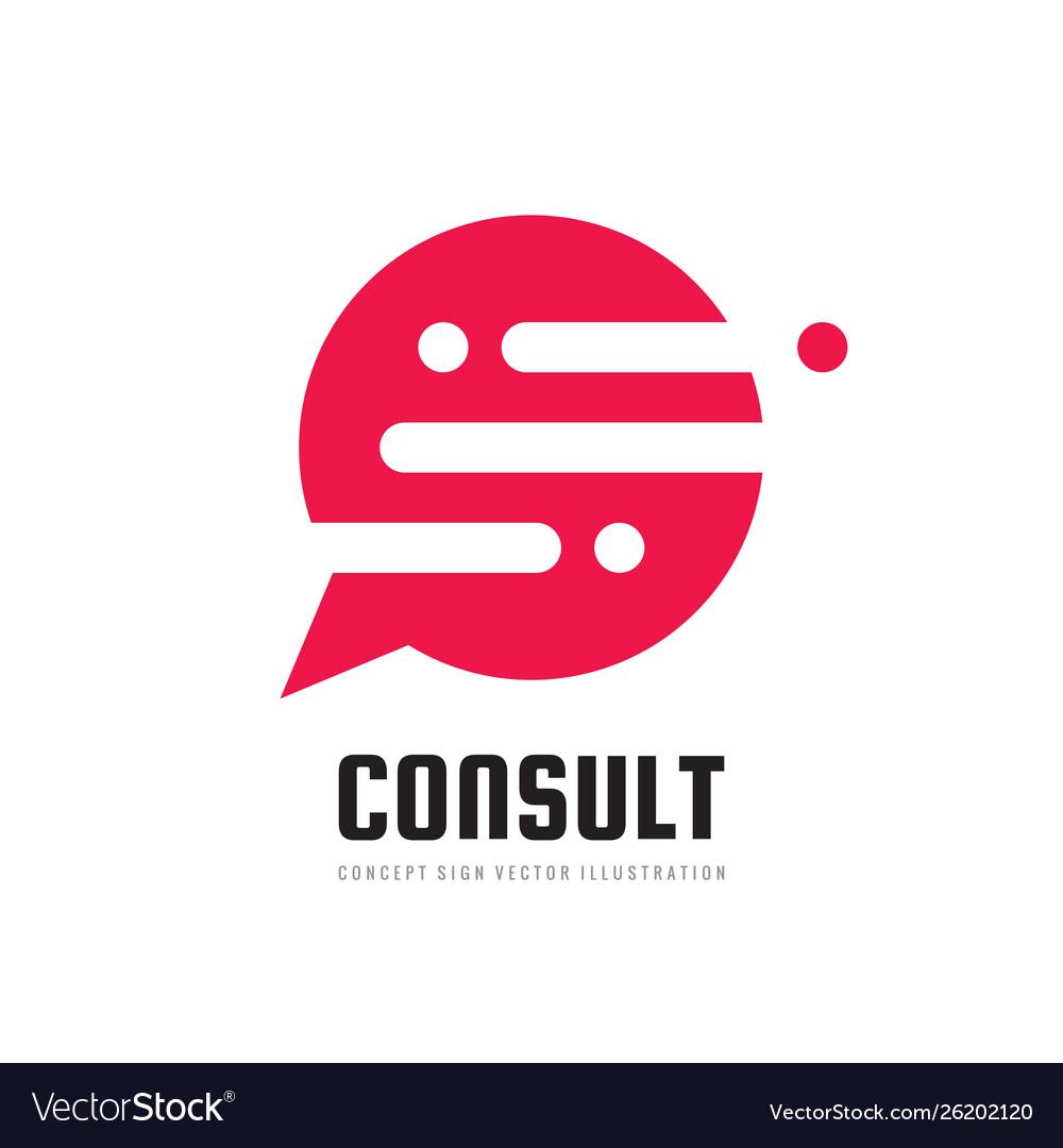 Consult business logo design message