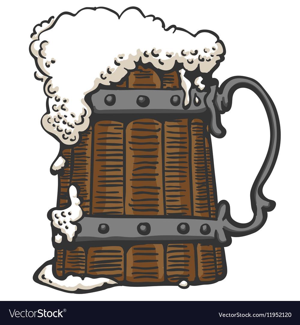Foamy beer in a mug