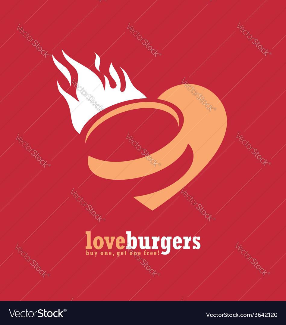 Minimalistic ad design for fast food restaurant