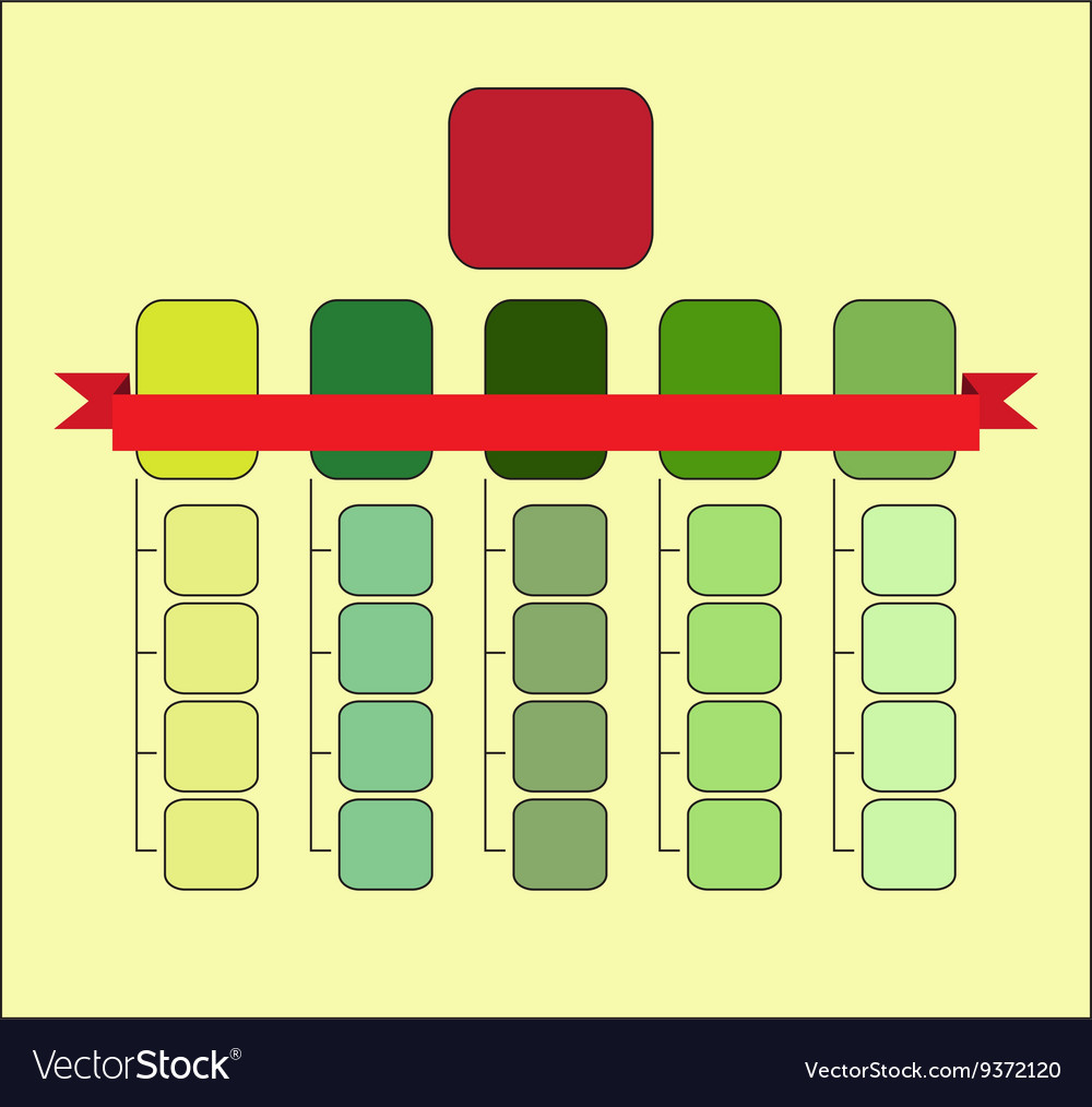 Organizational Structure Template Royalty Free Vector Image