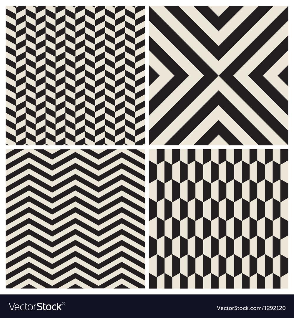 Pattern background set retro vintage design