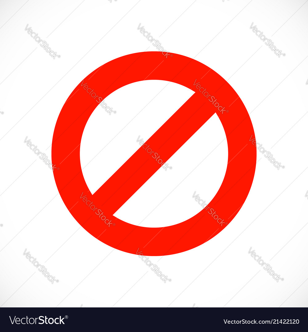 Stop warning red symbol template