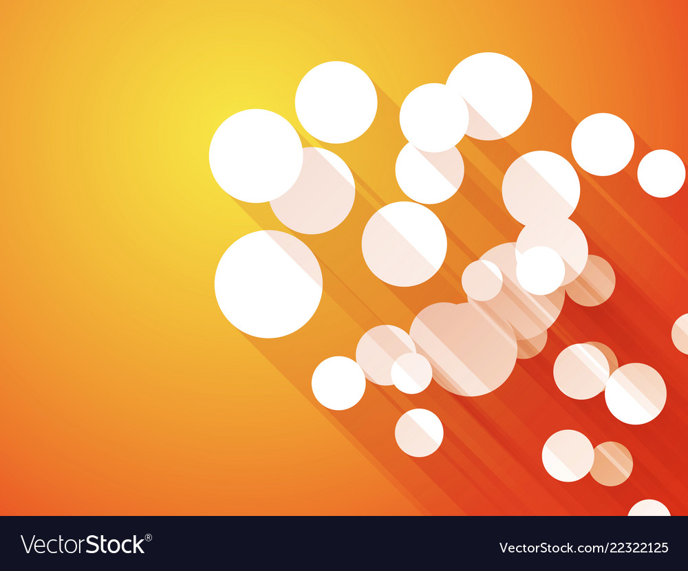 Abstract Orange Background With White Circle Long